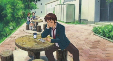 Kyon looking over the rules for forming a club.